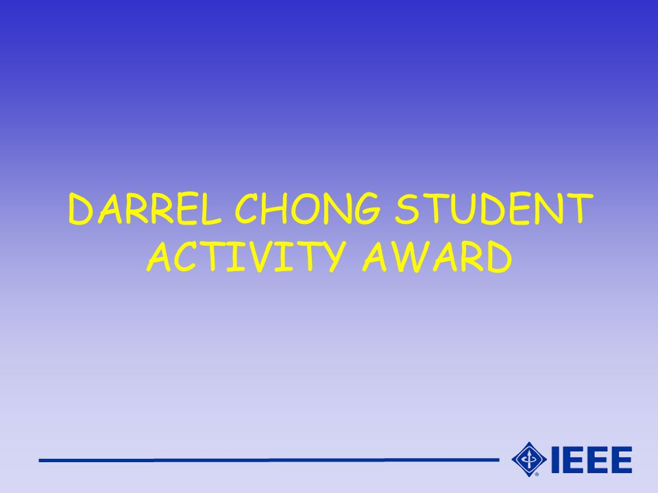 DARREL CHONG STUDENT ACTIVITY AWARD