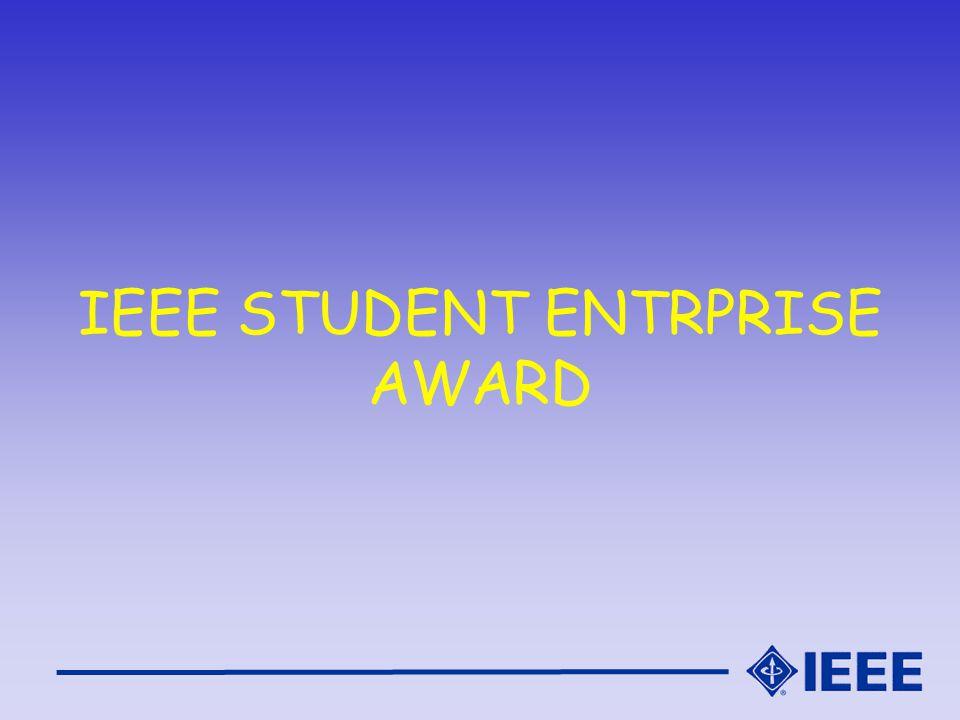 IEEE STUDENT ENTRPRISE AWARD