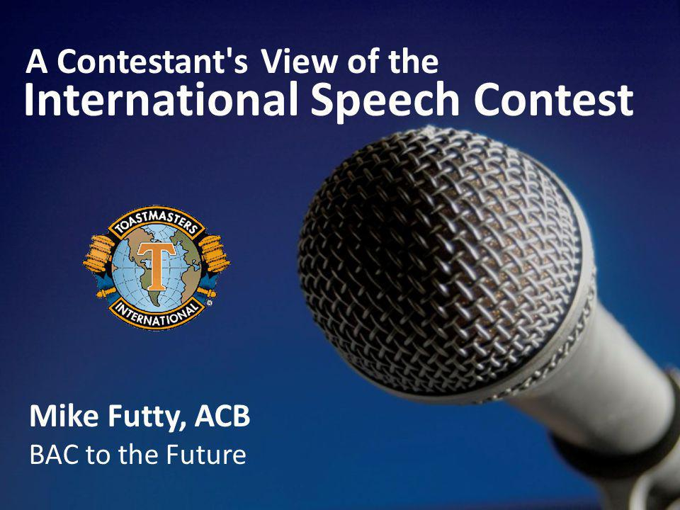 Speech and Competitor Types Evangelist Comedian Hearts and Flowers Teddy Bear Rambo Body Count Happy to Be Here