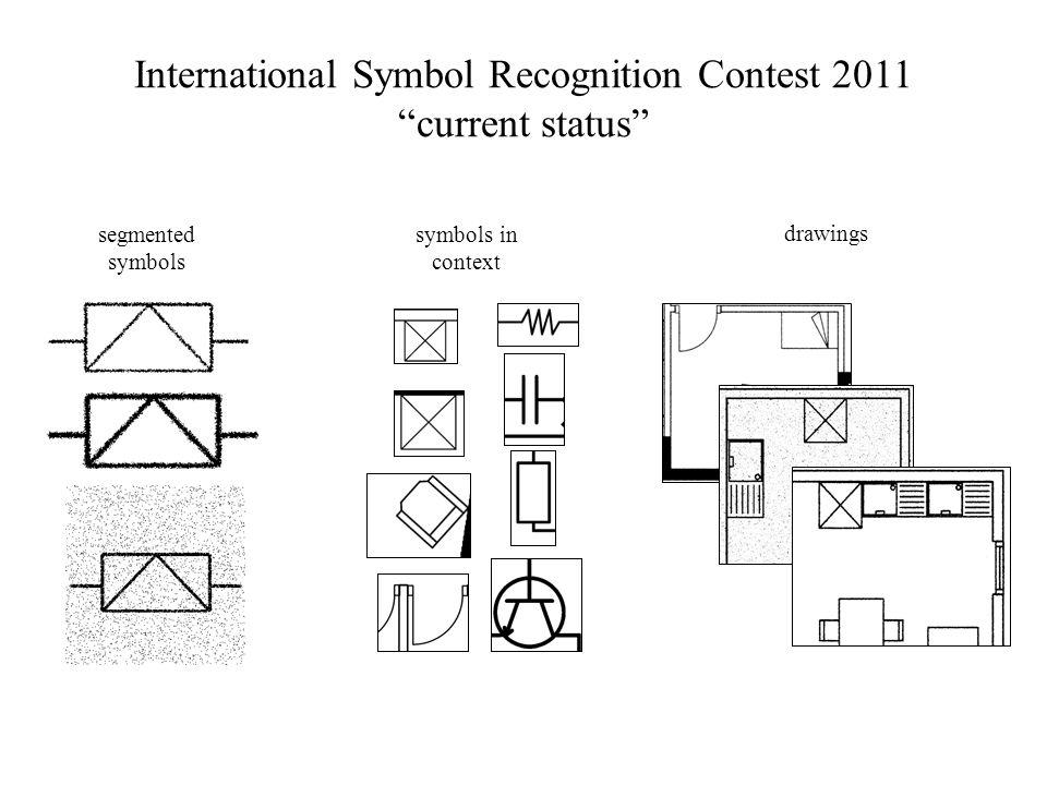 International Symbol Recognition Contest 2011 current status segmented symbols symbols in context drawings