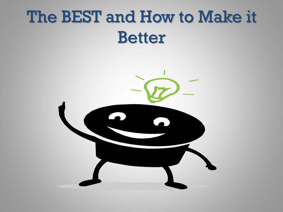 The BEST and How to Make it Better