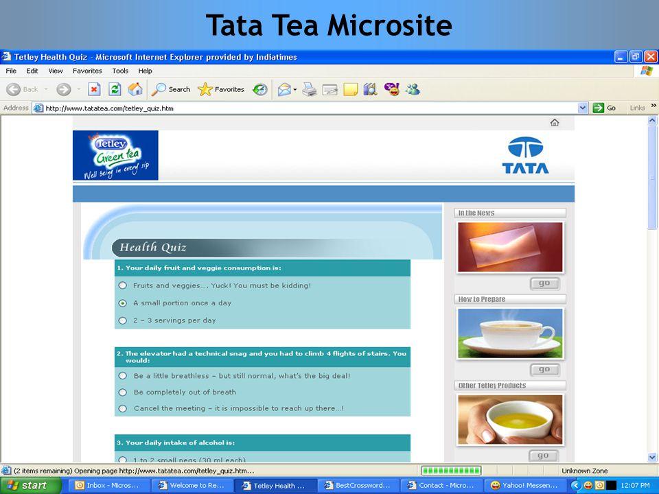 Tata Tea Microsite