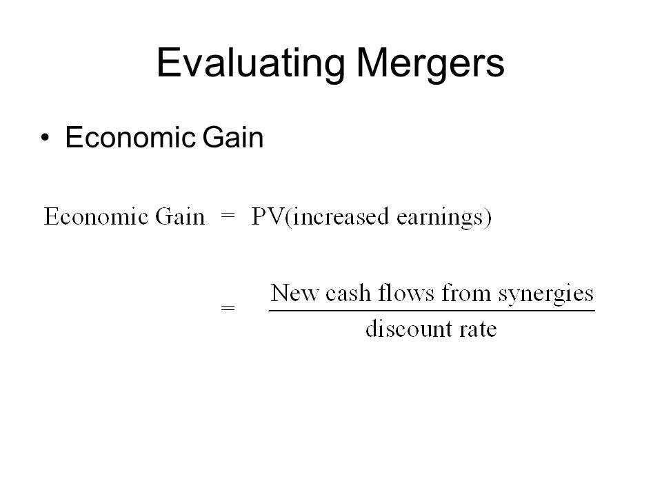Evaluating Mergers Economic Gain