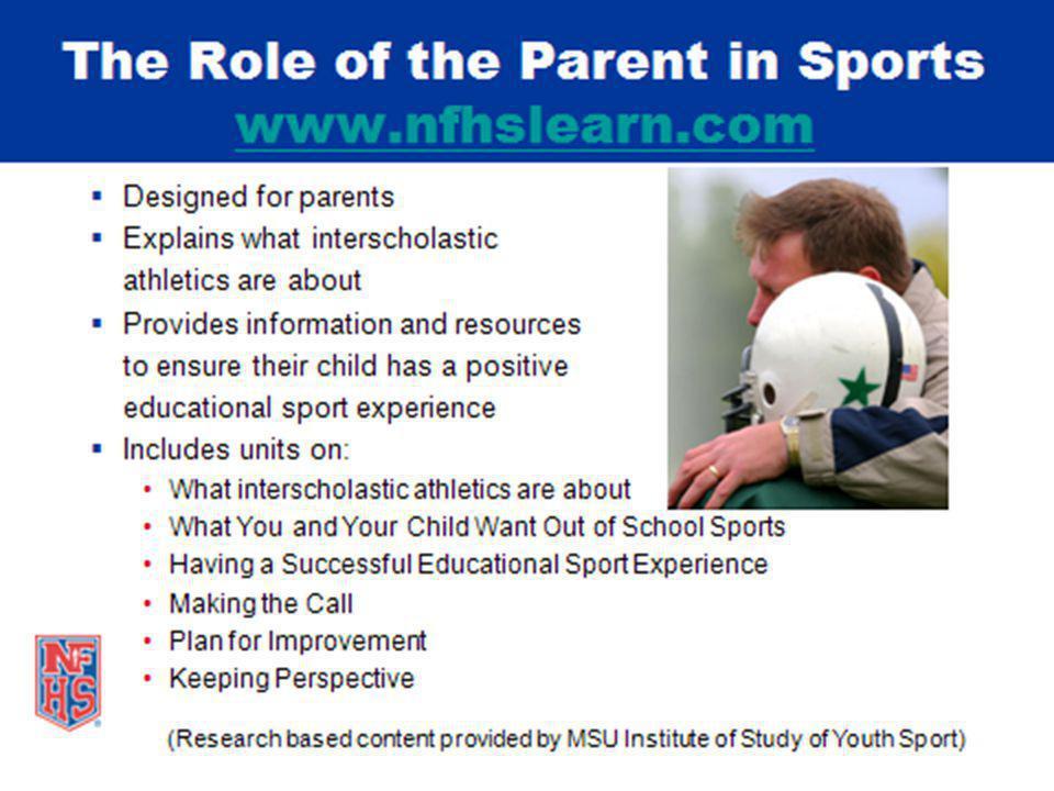 NFHS Interscholastic Officiating Course The NFHS Interscholastic Officiating Course Now available at www.nfhsofficials.com.