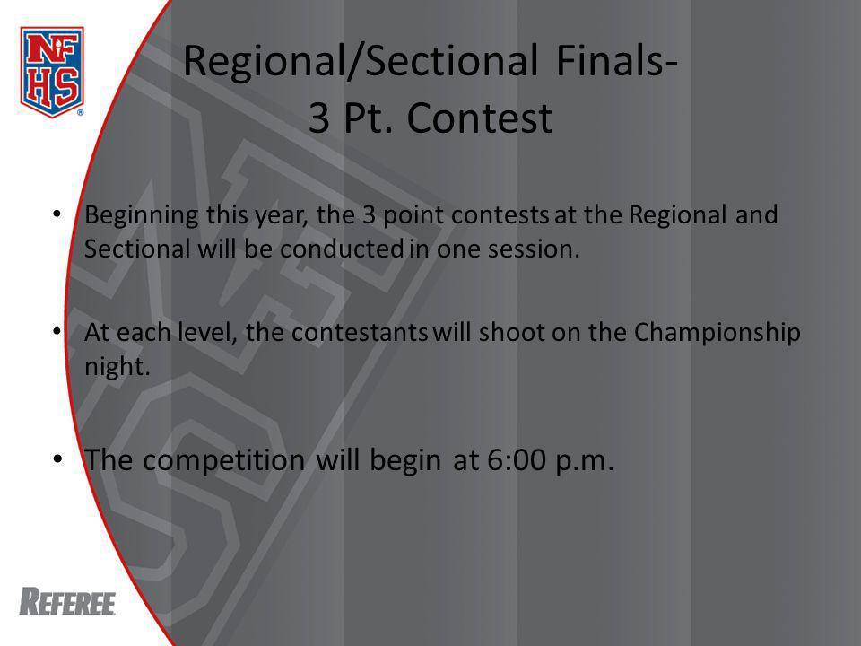 Regional/Sectional Finals- 3 Pt.
