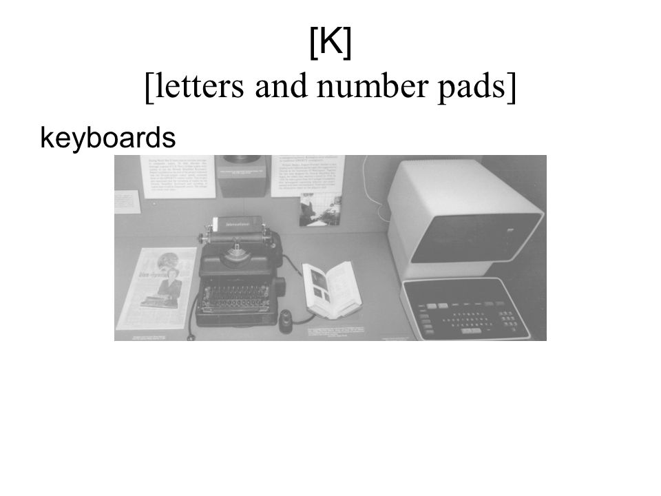 [K] [letters and number pads] keyboards