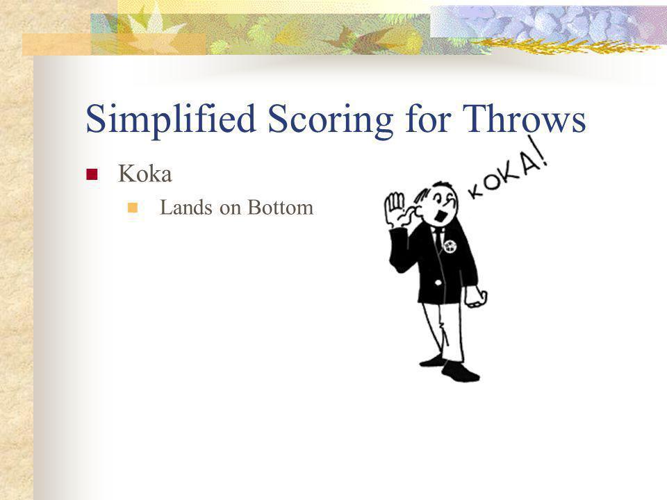 Simplified Scoring for Throws Koka Lands on Bottom