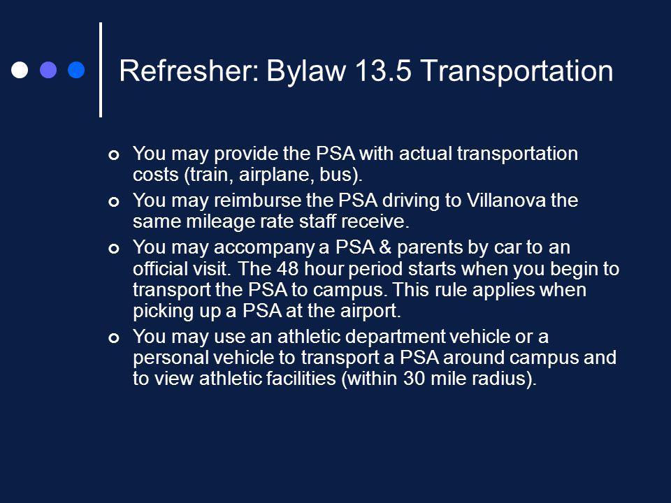 New NCAA Interpretations 13.4.1.2.