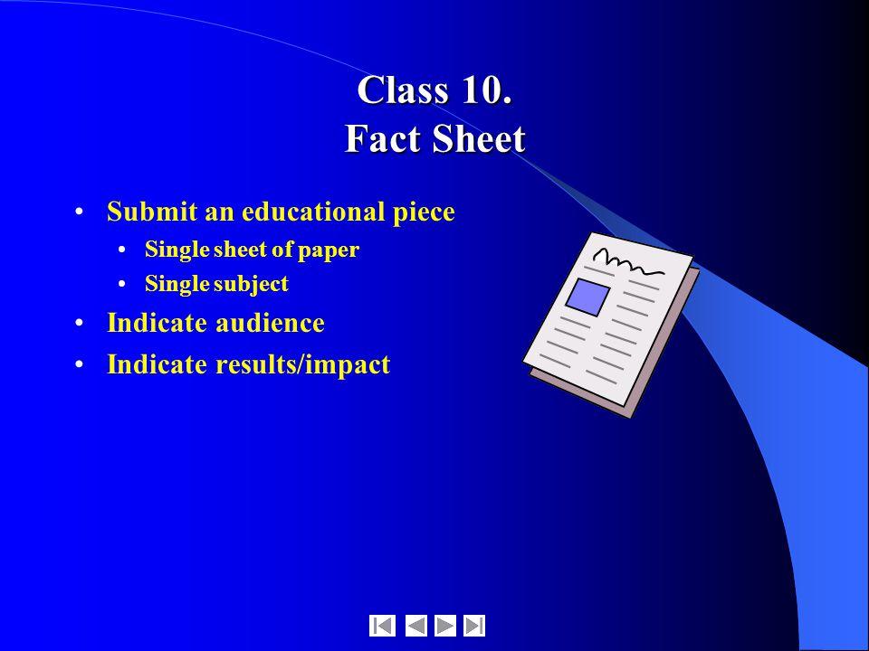 Class 10.