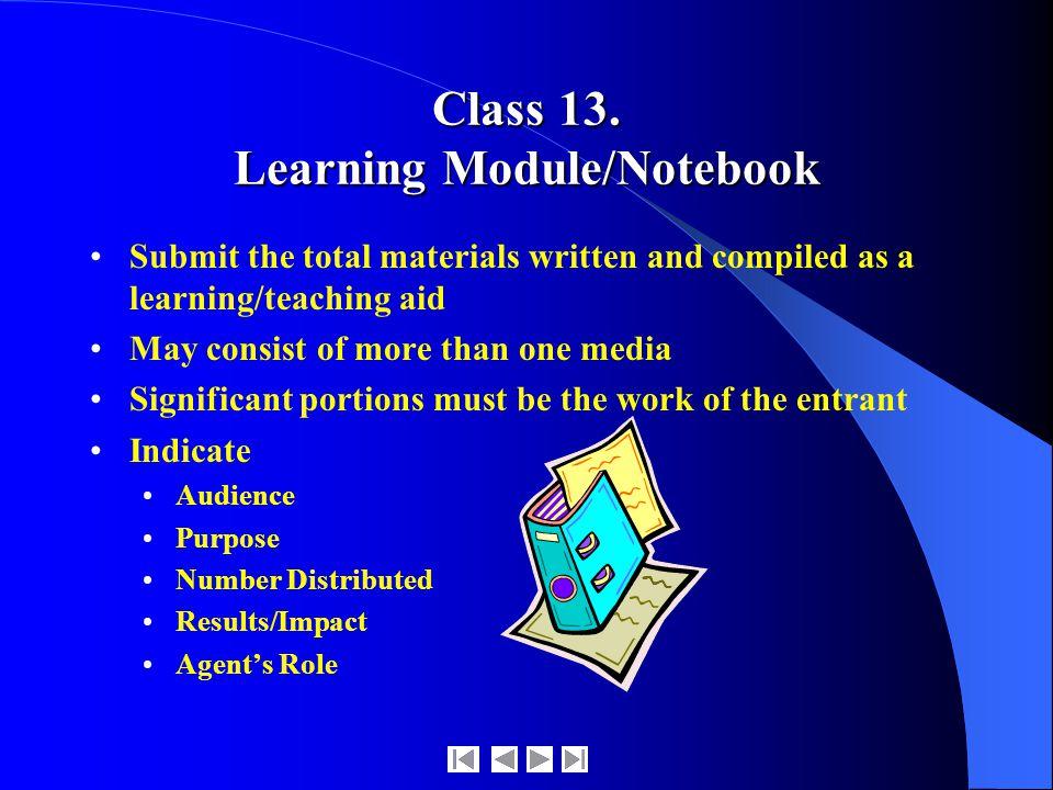 Class 13.