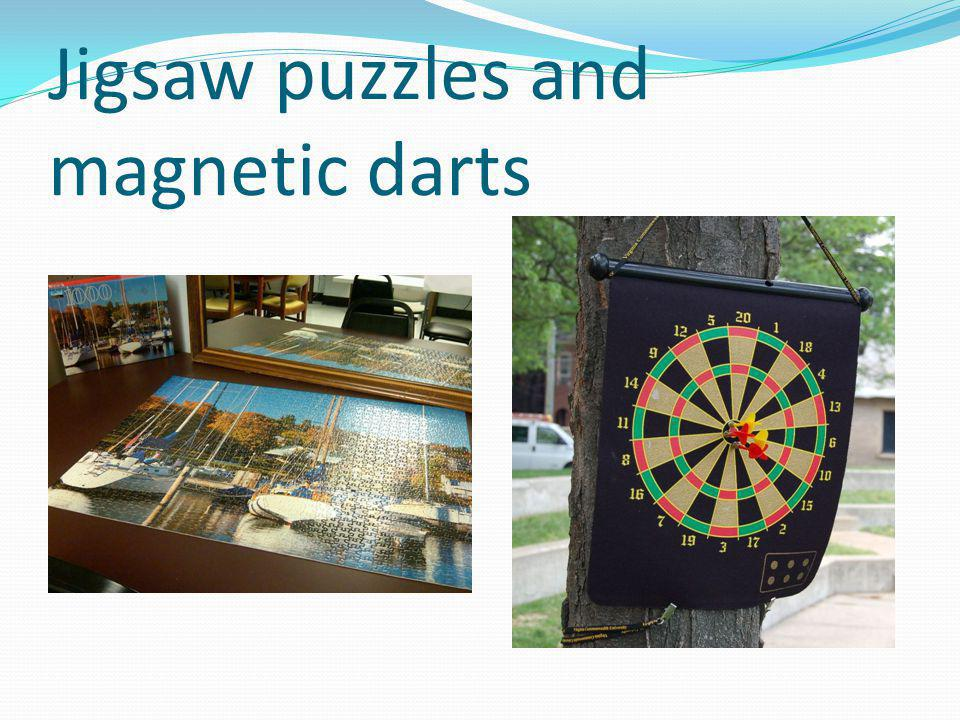 Jigsaw puzzles and magnetic darts