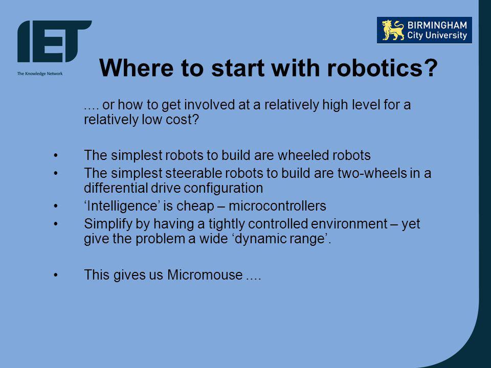Where to start with robotics?....