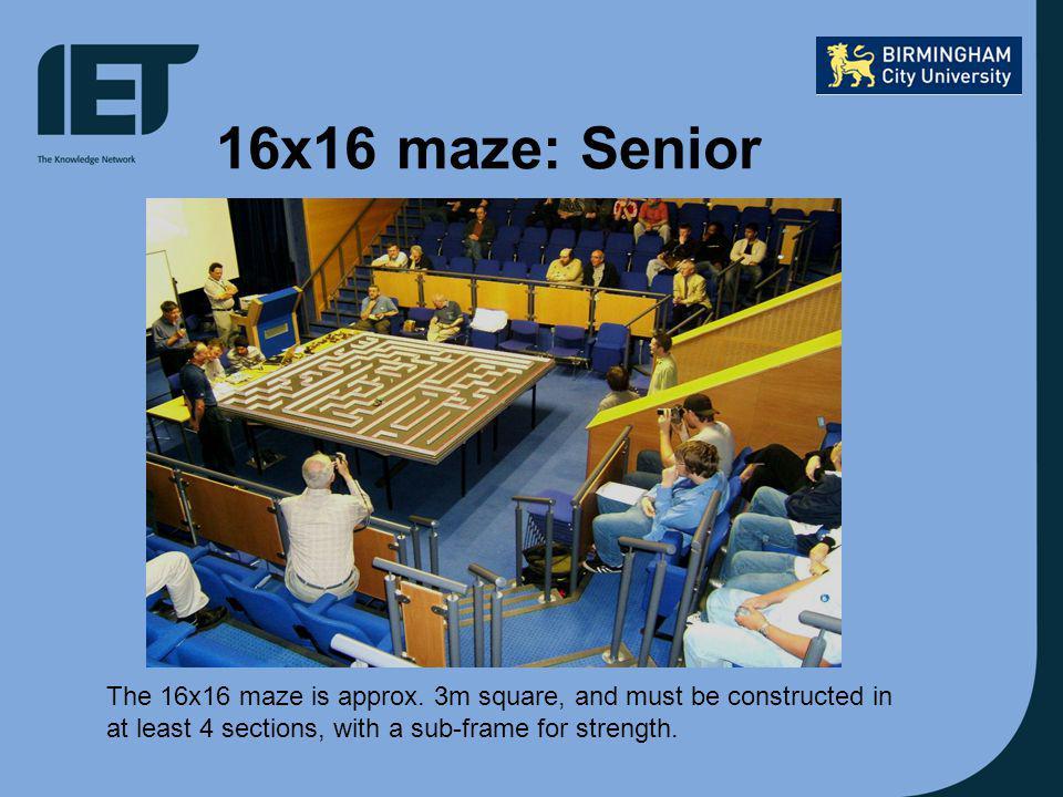 16x16 maze: Senior The 16x16 maze is approx.