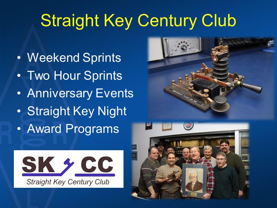 Straight Key Century Club Weekend Sprints Two Hour Sprints Anniversary Events Straight Key Night Award Programs