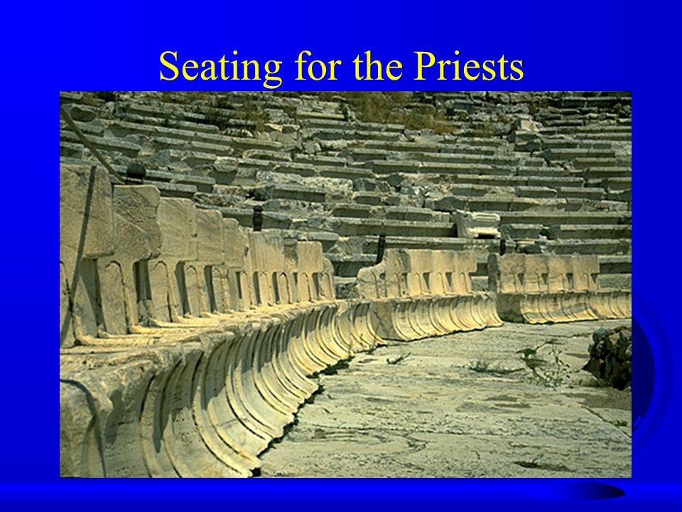 Seating for the Priests