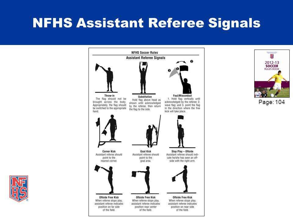 NFHS Assistant Referee Signals Page: 104
