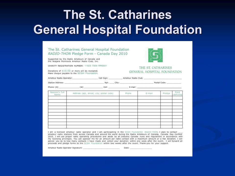 The St. Catharines General Hospital Foundation