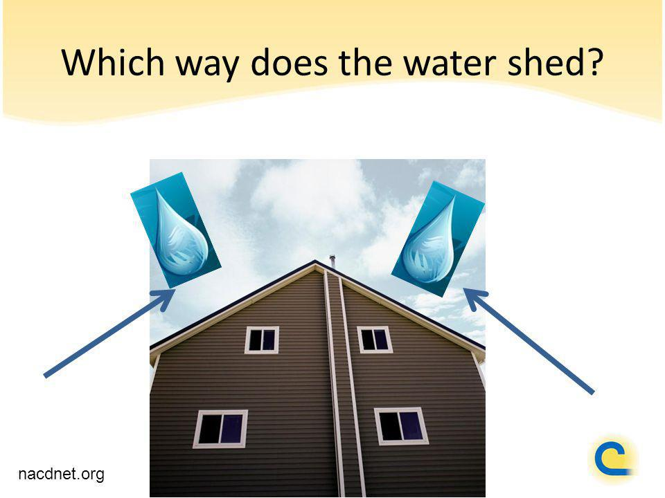 Which way does the water shed? nacdnet.org