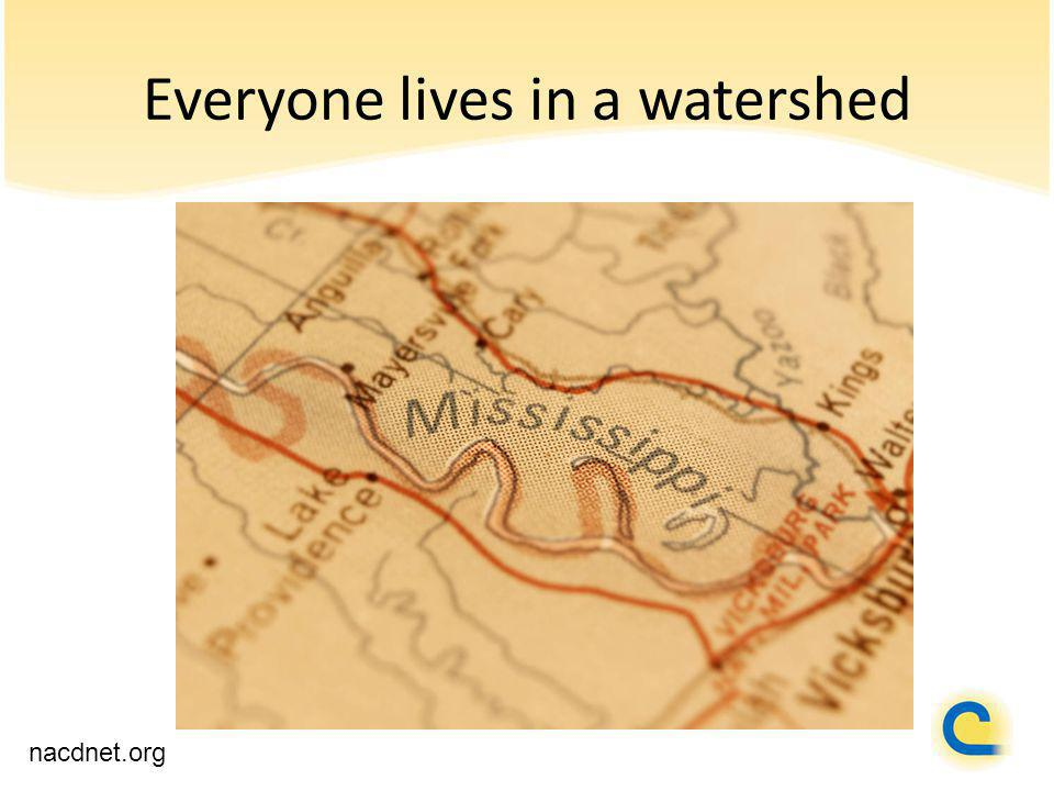 Everyone lives in a watershed nacdnet.org