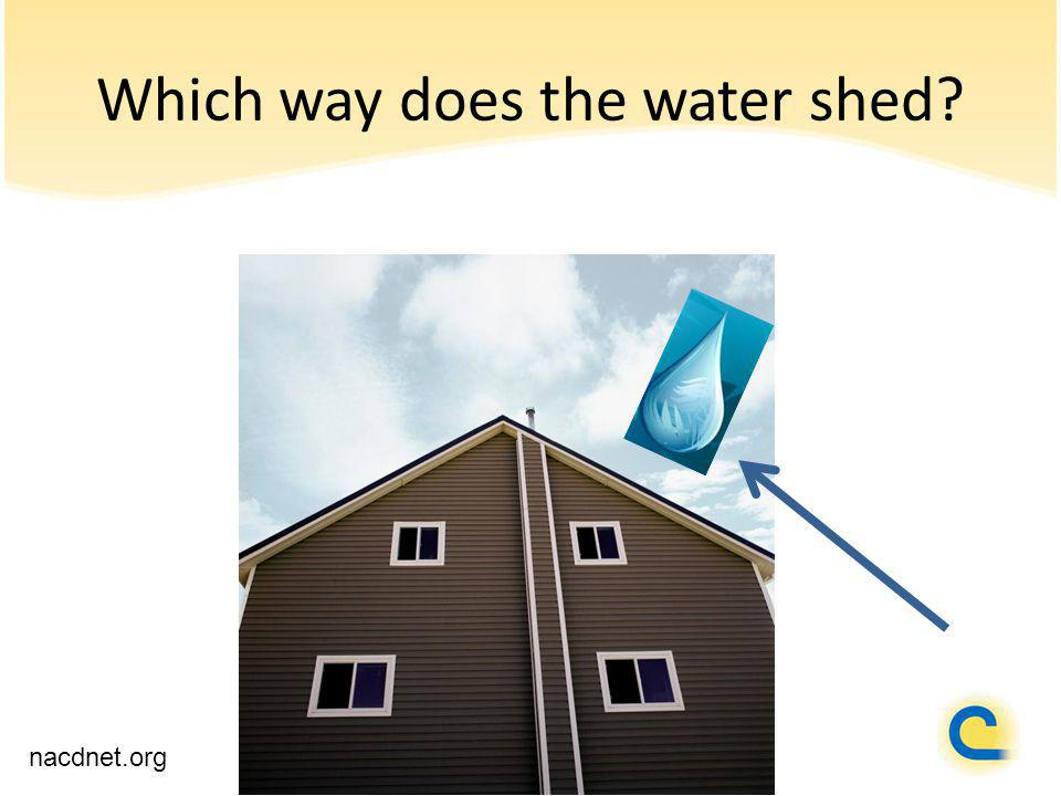 Which way does the water shed nacdnet.org