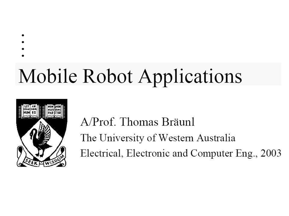 Mobile Robot ApplicationsMobile Robot Applications Textbook: –T.