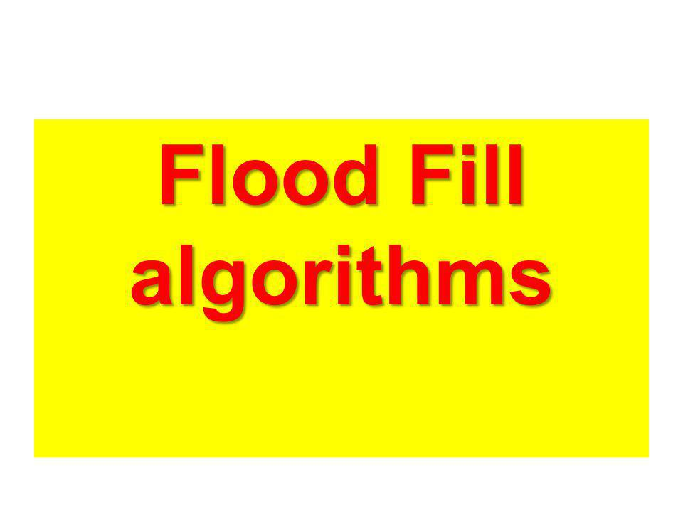 Flood Fill algorithms