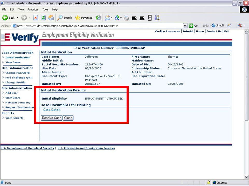E-VERIFY PROGRAM11August 6, 2008