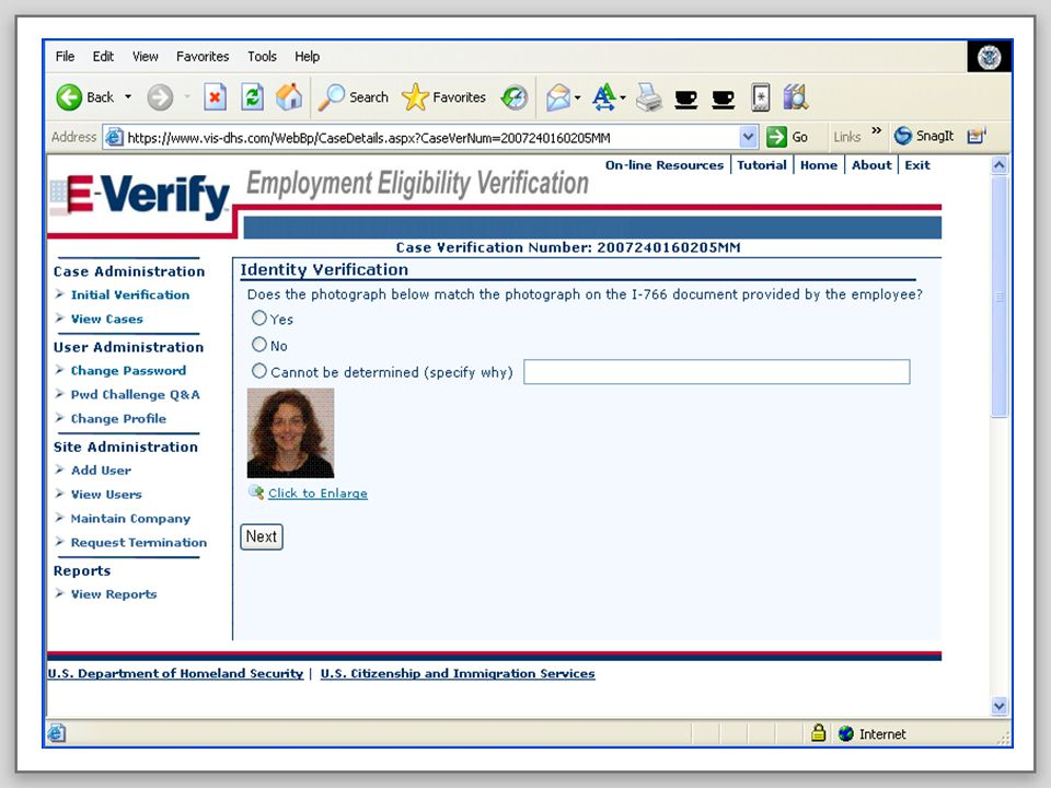 E-VERIFY PROGRAM21August 6, 2008