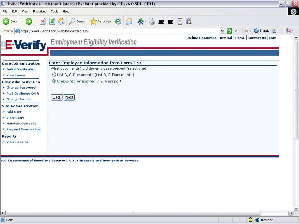 E-VERIFY PROGRAM19August 6, 2008
