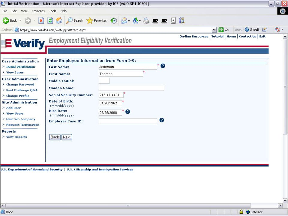E-VERIFY PROGRAM9August 6, 2008
