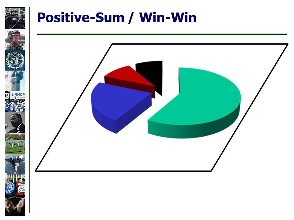 Positive-Sum / Win-Win