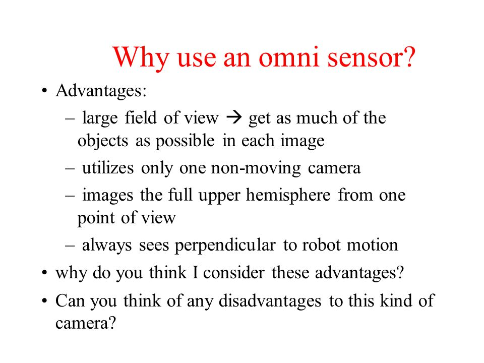 Whats an omnidirectional sensor?