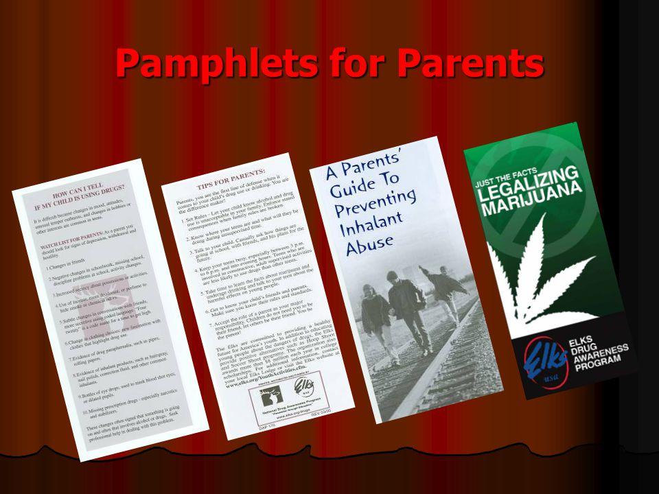 Pamphlets for Parents