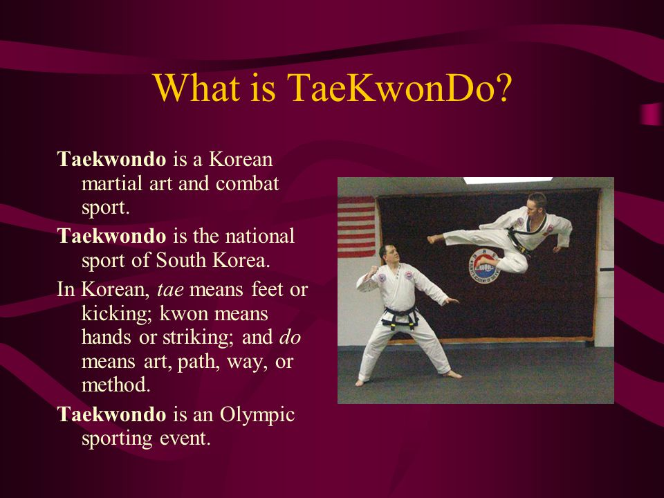 The History of TaeKwonDo The oldest Korean martial art was a combination of unarmed combat styles developed by three rival Korean kingdoms.