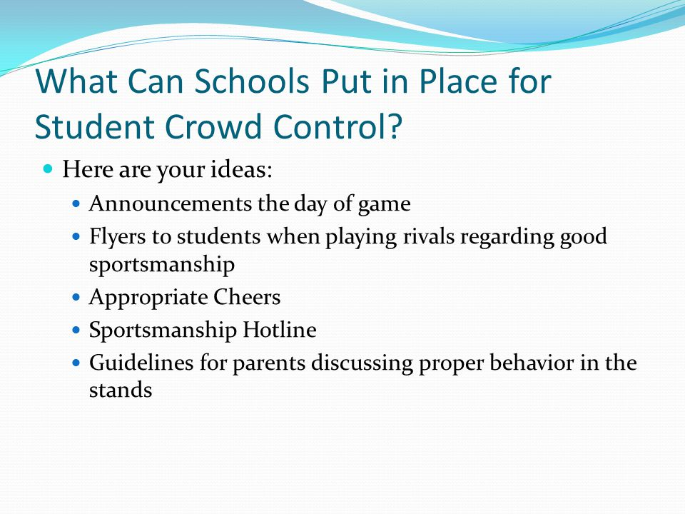 What Can Schools Put in Place for Student Crowd Control.