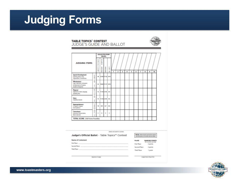 www.toastmasters.org Judging Forms