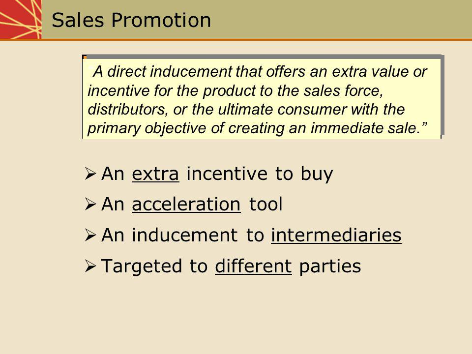 Coordinating Sales Promotion With Other IMC Elements Budget allocation Coordination of ad and promotion themes Media support and timing Measuring effectiveness Various IMC elements such as advertising, direct marketing, Internet and personal selling efforts need to be coordinated with sales promotion to create a synergistic effect.