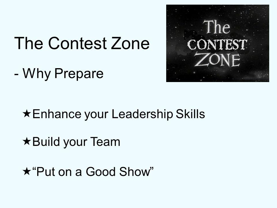 The Contest Zone Learn by doing - Whats in it for you?
