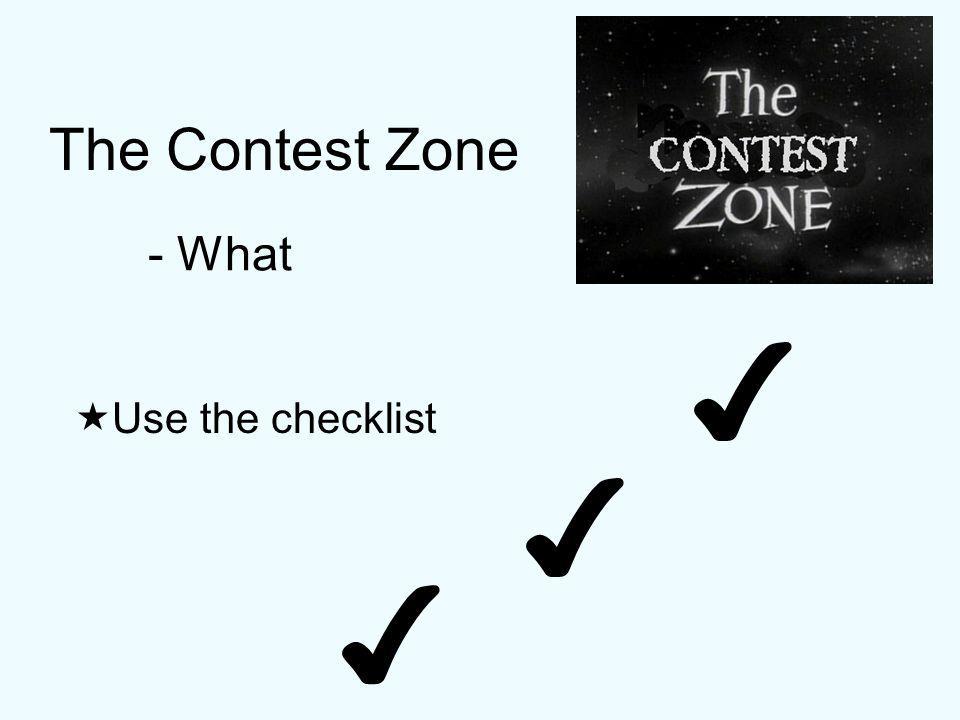 The Contest Zone - Roles & Responsibilities