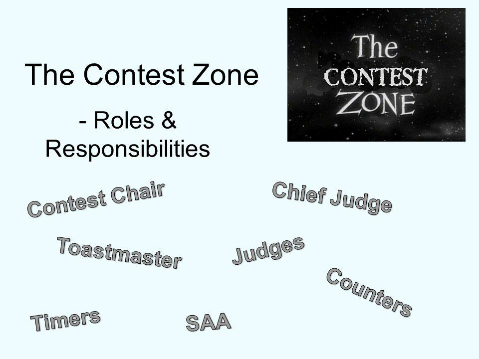 The Contest Zone Review the Contest script -What to say -What to do -When to do it - How