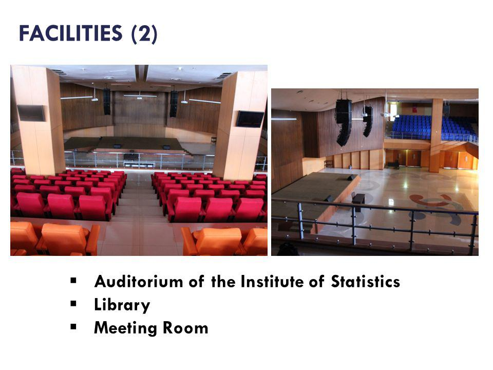 Auditorium of the Institute of Statistics Library Meeting Room FACILITIES (2)