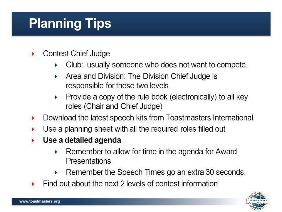 www.toastmasters.org Planning Sheet - Division
