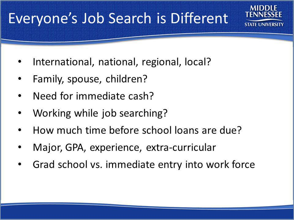 Joes Job Search December 5, 2008 - downsized after 14 years with a small investment research company During the transition, sent 800+ e-mails to either connect or network with others LinkedIn account went from 6 connections to 310 connections; 70 outstanding invitations Number of networking meetings (one-on-one or group meetings): 18 in December 25 in January 44 in February 23 in first three weeks of March On average: 7 to 8 emails per day and 6 to 7 networking meetings per week One formal interview and job offer - March, 2009 How.