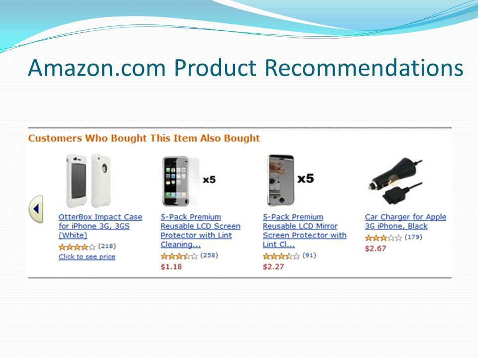 Amazon.com Product Recommendations