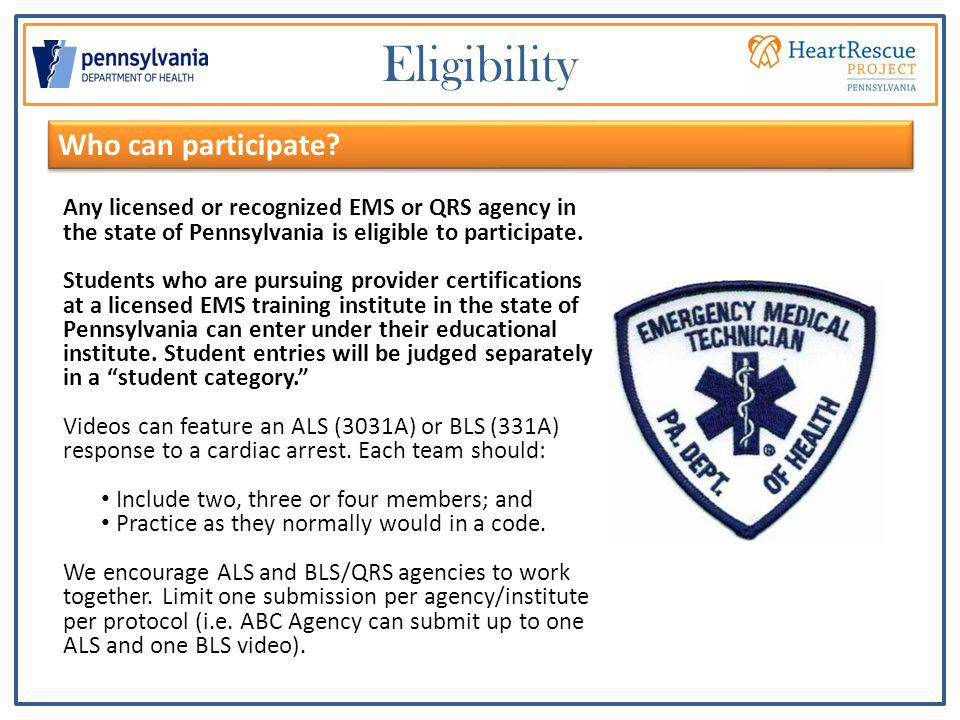 Instructions for registration: 1.Register your team online at www.PAHeartRescueProject.com.www.PAHeartRescueProject.com.