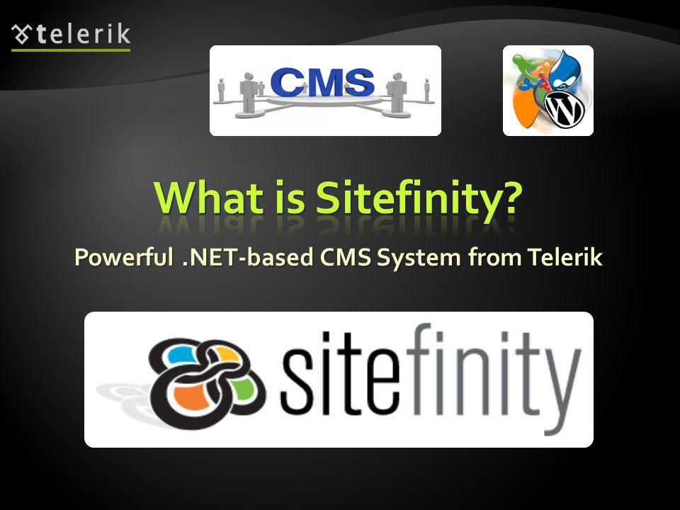 Powerful.NET-based CMS System from Telerik