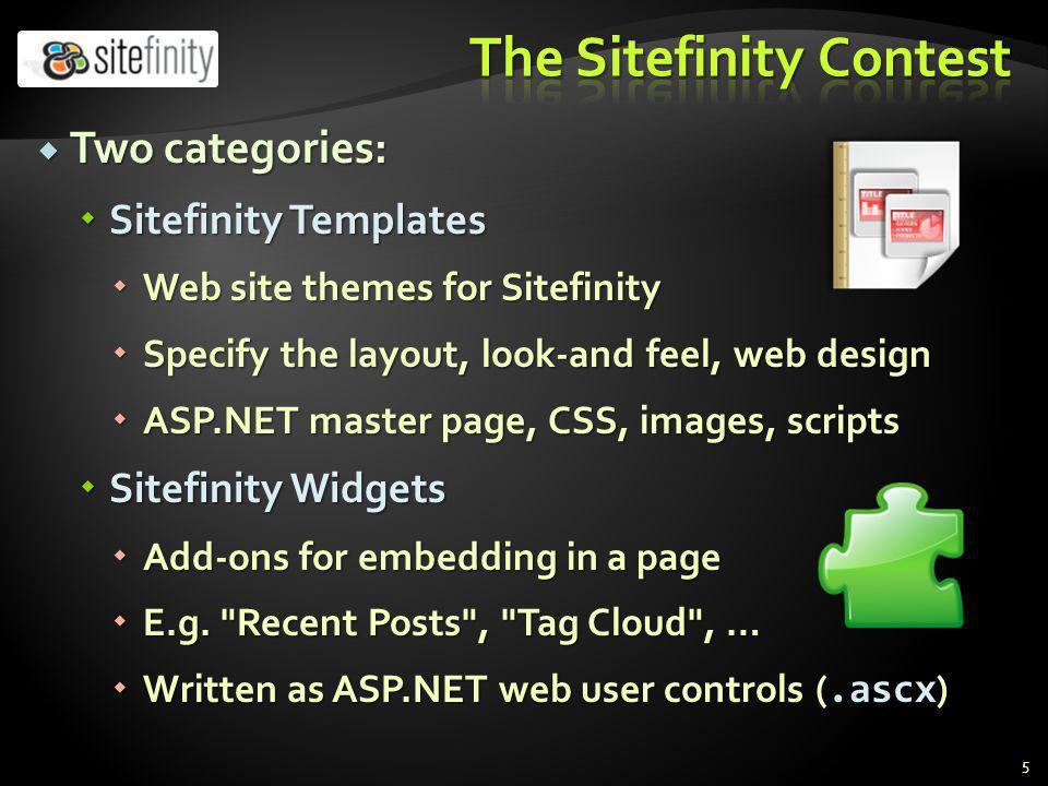 ASP.NET ASP.NET http://aspnetcourse.telerik.com http://aspnetcourse.telerik.com http://aspnetcourse.telerik.com http://www.asp.net/web-forms http://www.asp.net/web-forms http://www.asp.net/web-forms Sitefinity CMS Sitefinity CMS http://www.sitefinity.com/documentation/ http://www.sitefinity.com/documentation/ http://www.sitefinity.com/documentation/ http://sitefinity.com/40/help/developers-guide/ http://sitefinity.com/40/help/developers-guide/ http://sitefinity.com/40/help/developers-guide/ Sitefinity Templates Sitefinity Templates http://www.sitefinity.com/documentation/designe rs-guide.aspx,, http://www.sitefinity.com/documentation/designe rs-guide.aspx, http://vimeo.com/20885591, http://tv.telerik.com/watch/sitefinity/real-world- project-development-with-sitefinity-40 http://www.sitefinity.com/documentation/designe rs-guide.aspx http://www.sitefinity.com/documentation/designe rs-guide.aspxhttp://vimeo.com/20885591 http://tv.telerik.com/watch/sitefinity/real-world- project-development-with-sitefinity-40 16
