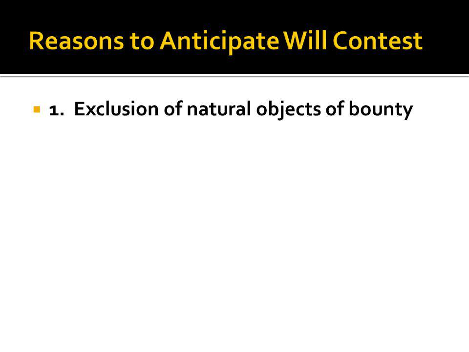 1. Exclusion of natural objects of bounty