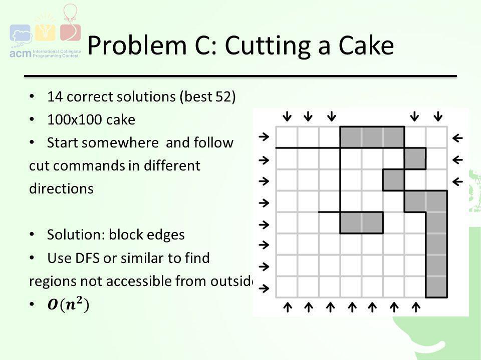 Problem C: Cutting a Cake
