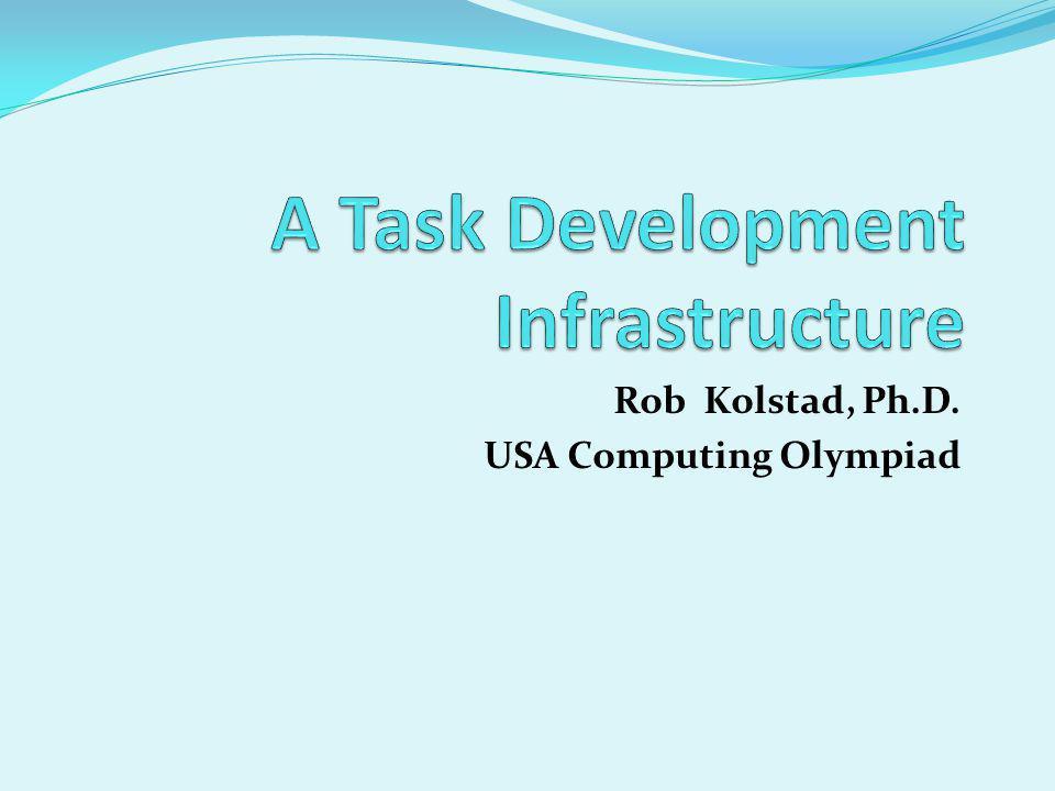 Rob Kolstad, Ph.D. USA Computing Olympiad